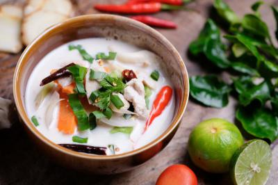 Tom Kha Kai (Coconut milk soup)